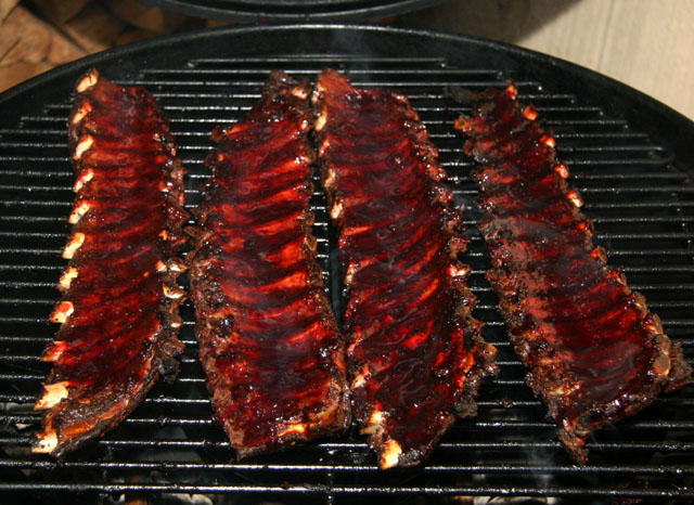 Spareribs Gasgrill Outdoorchef : Cherry red wine ribs
